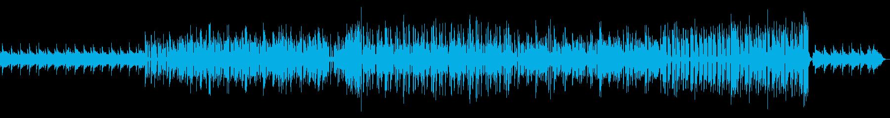 オルゴールとシンセサイザーの優しいポップの再生済みの波形