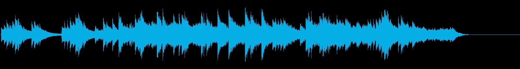 重たいテーマ曲風バラードの再生済みの波形