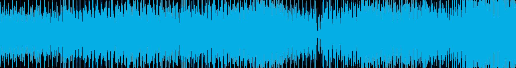 軽快なテクノポップの再生済みの波形