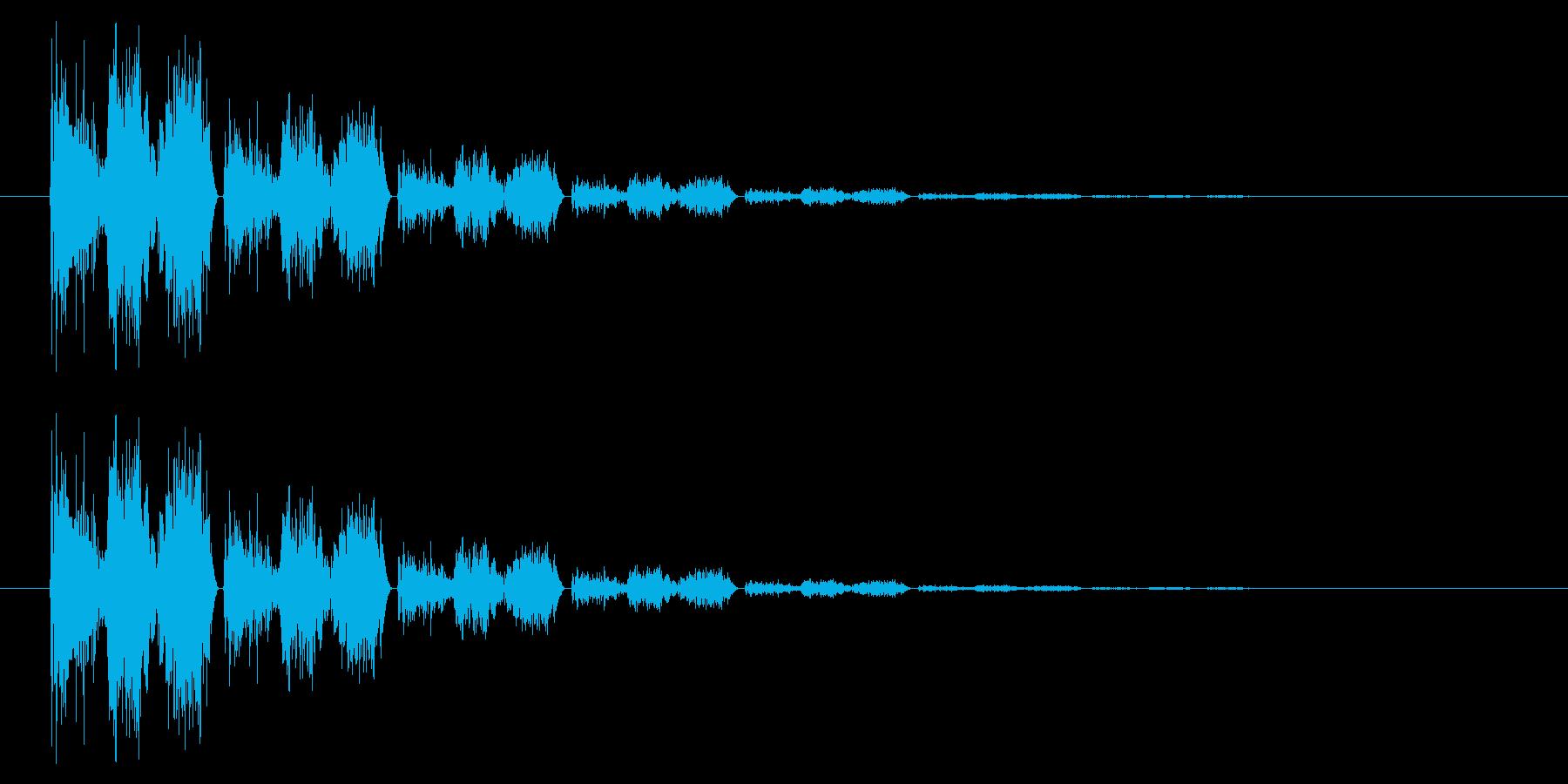 斬る04-4の再生済みの波形