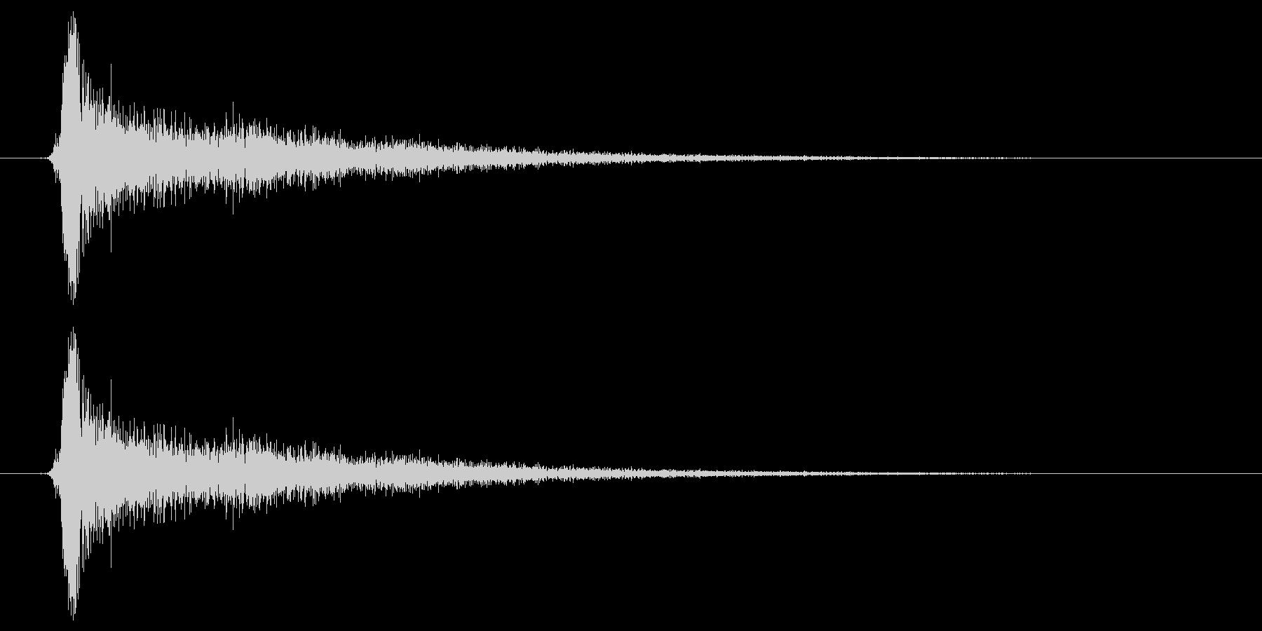 カチンの未再生の波形