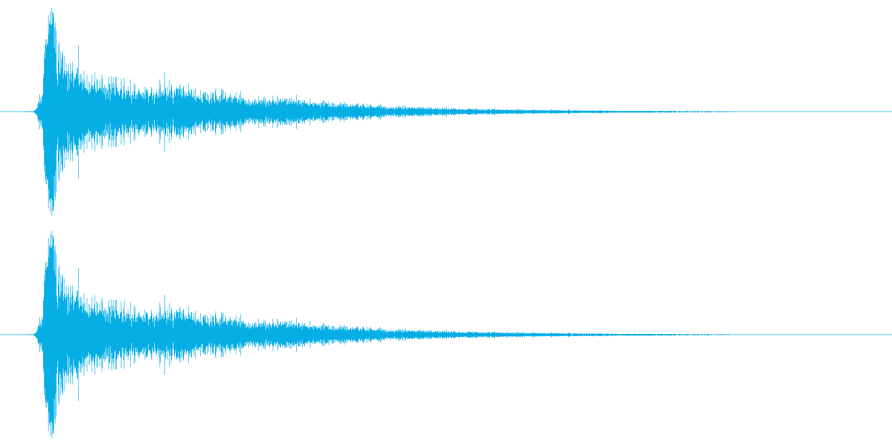 カチンの再生済みの波形