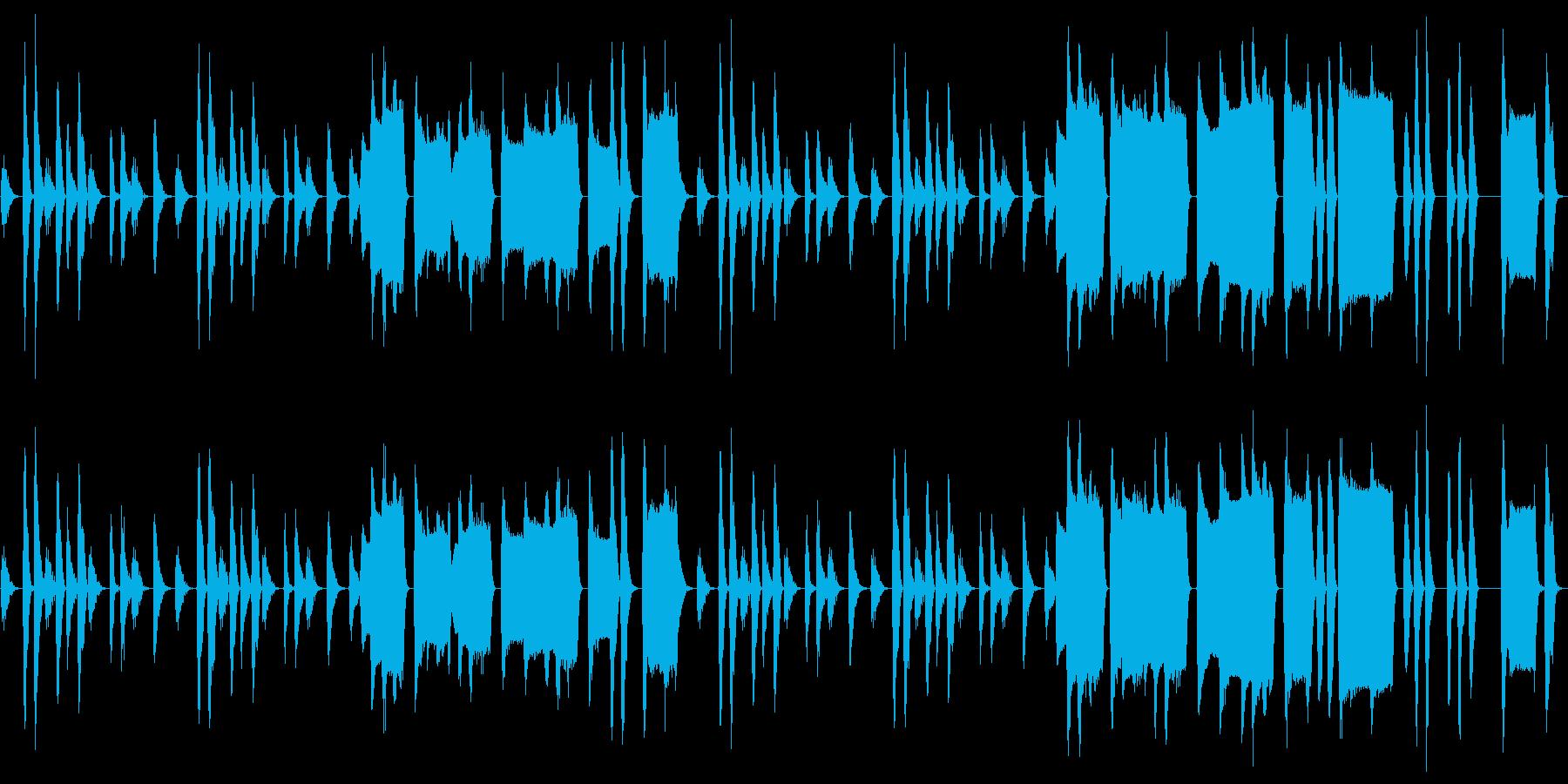 【ループ】間の抜けた雰囲気のコミカルな曲の再生済みの波形