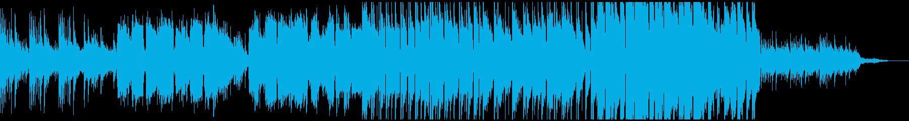 落ち着いた和風のわびさびBGMの再生済みの波形