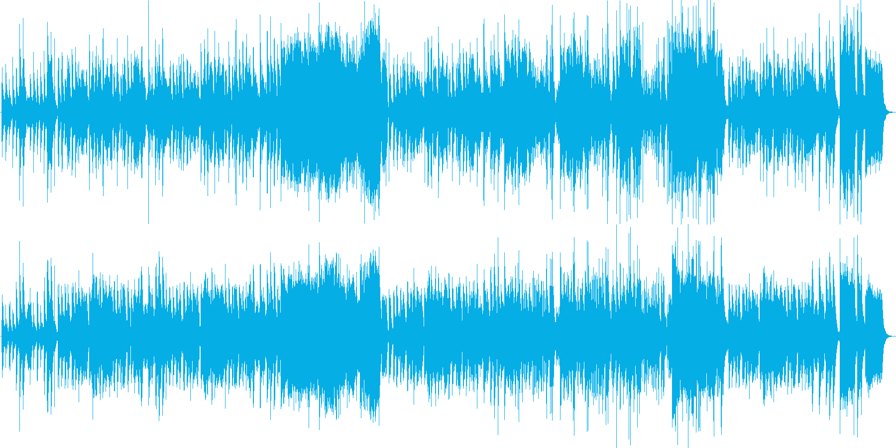 田舎の風景をイメージしたほのぼの系BGMの再生済みの波形
