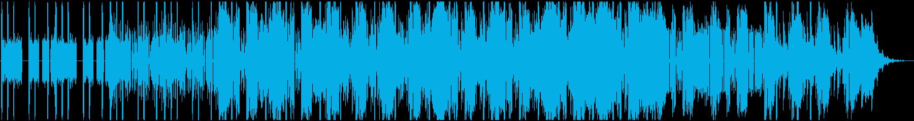 暗く緊迫感のあるノイジーなデジタルビートの再生済みの波形