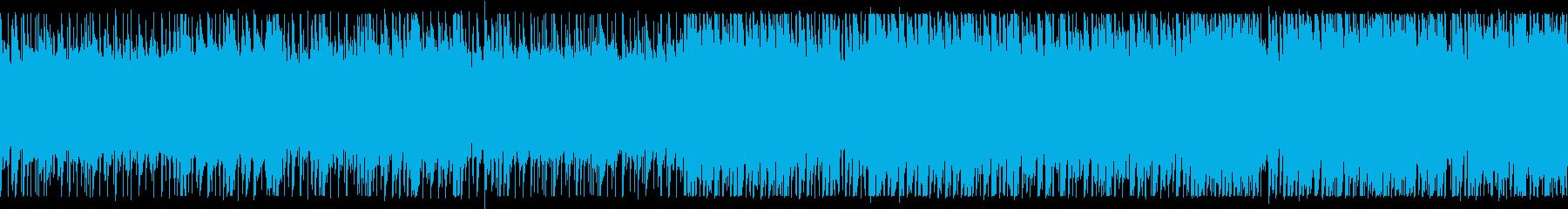 静かで美しい森のBGM ループ版の再生済みの波形