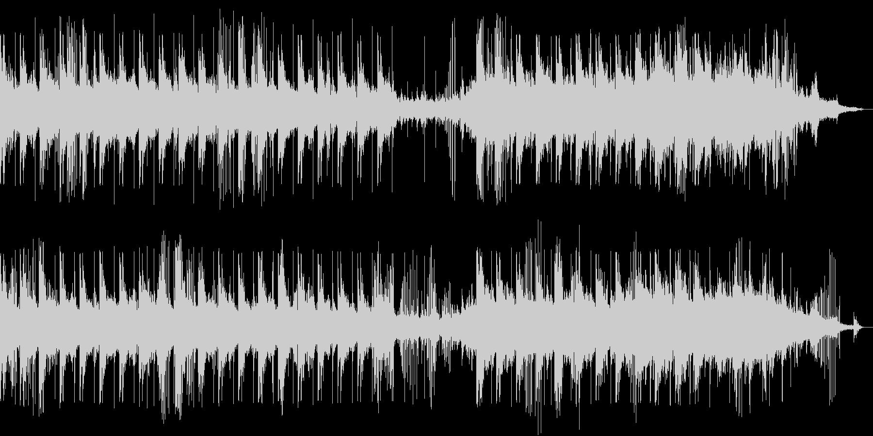 優しいピアノと水の音が奏でるBGMの未再生の波形