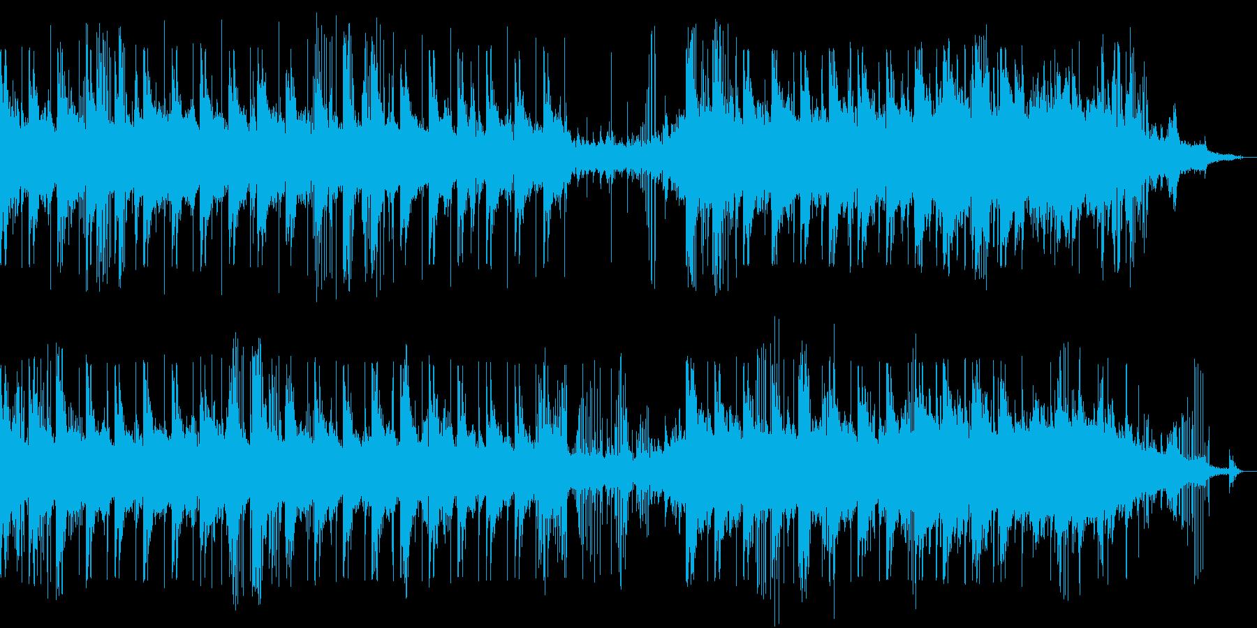 優しいピアノと水の音が奏でるBGMの再生済みの波形