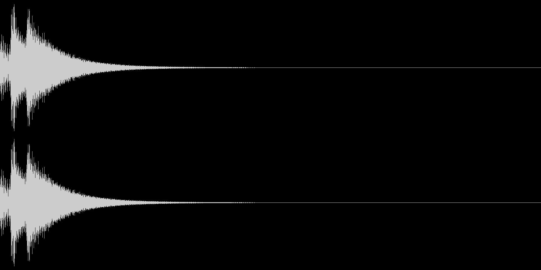 しっくりくるゲーム操作音01_選択の未再生の波形