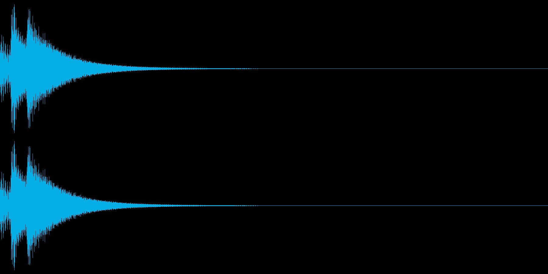 しっくりくるゲーム操作音01_選択の再生済みの波形