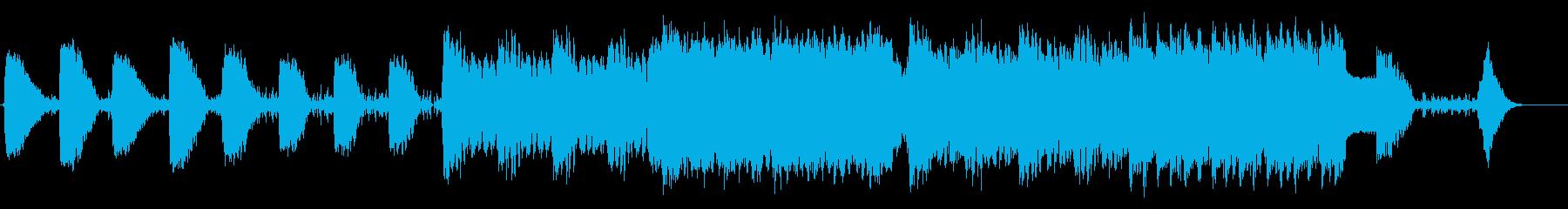 戦闘の最前線のような力強く攻撃的な曲ですの再生済みの波形