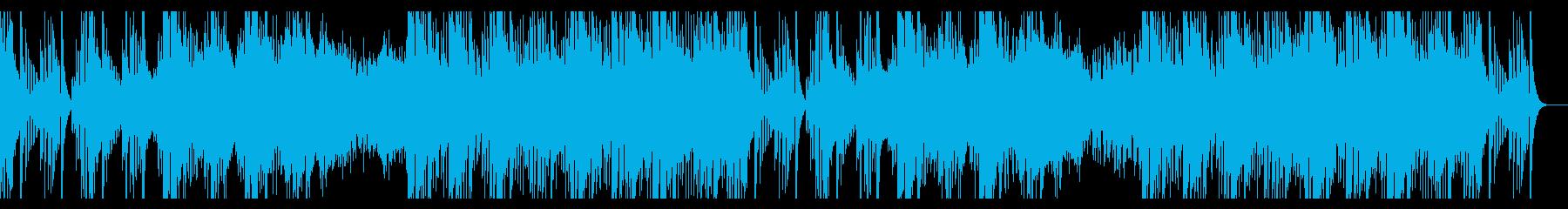 ゲームのボス戦の前の緊張感ある楽曲の再生済みの波形