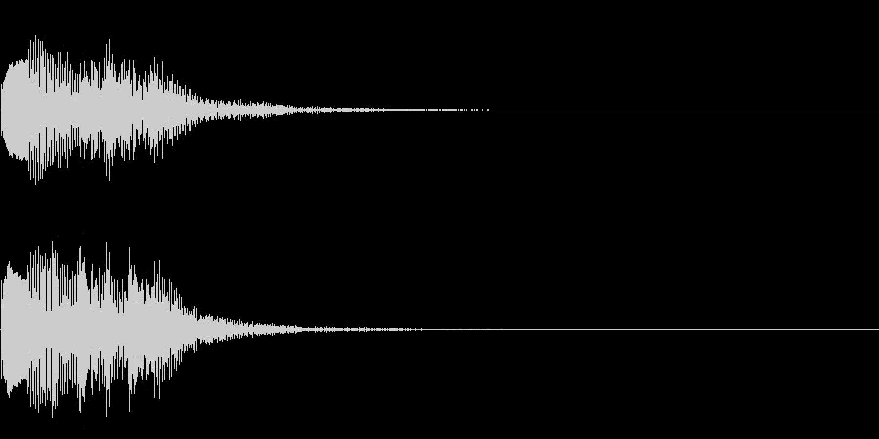 場面転換03(かわいい音)の未再生の波形