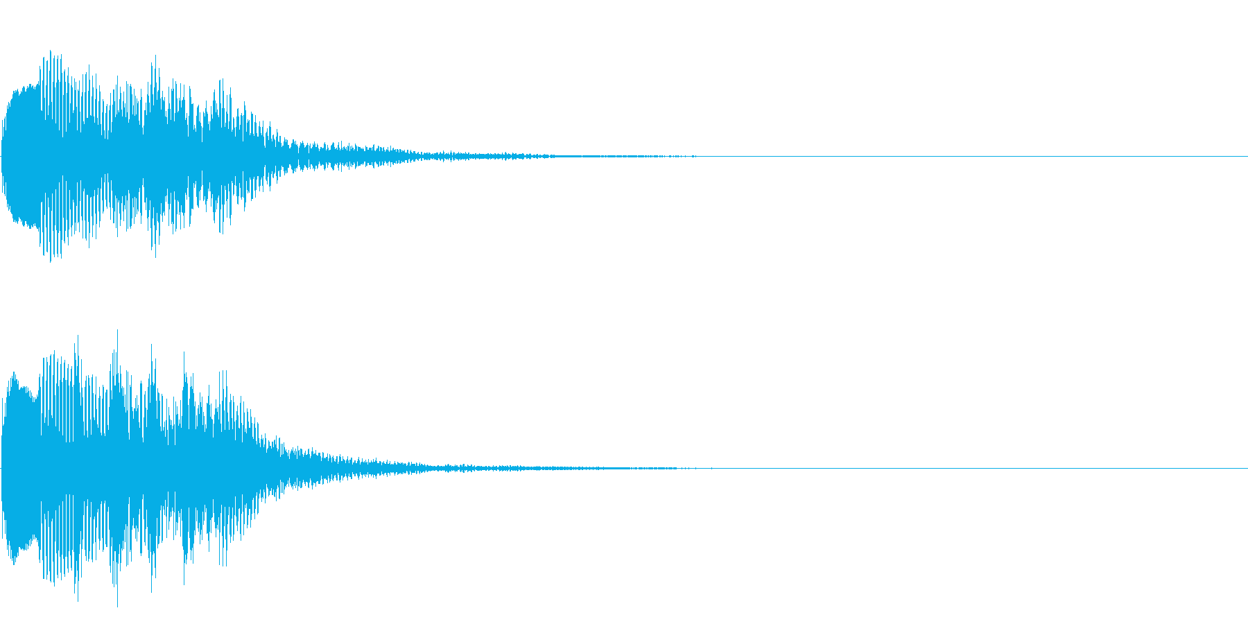 場面転換03(かわいい音)の再生済みの波形