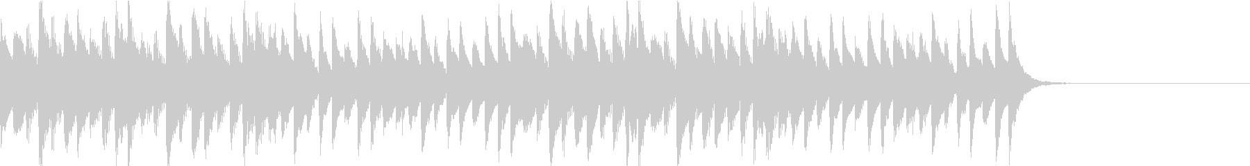 マリンバによる不思議系ジングルの未再生の波形