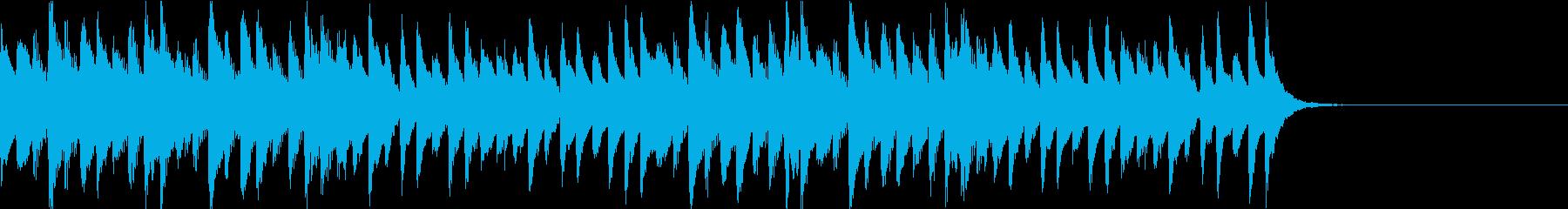 マリンバによる不思議系ジングルの再生済みの波形