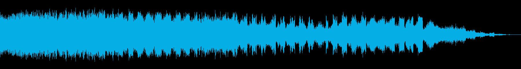 ロング変調パルススイープの再生済みの波形