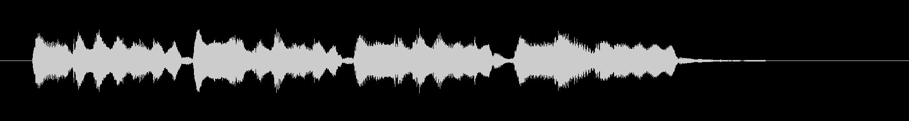 明るく愉快な笛のメロディーのポップスの未再生の波形