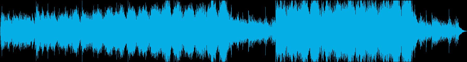 感動的なピアノのメロディー音楽の再生済みの波形