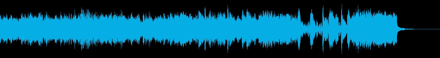 物語の始まりを告げるBGM・オーケストラの再生済みの波形