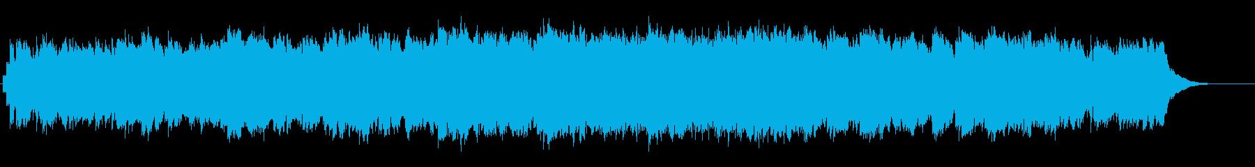 眠りを誘うヒーリングBGMの再生済みの波形