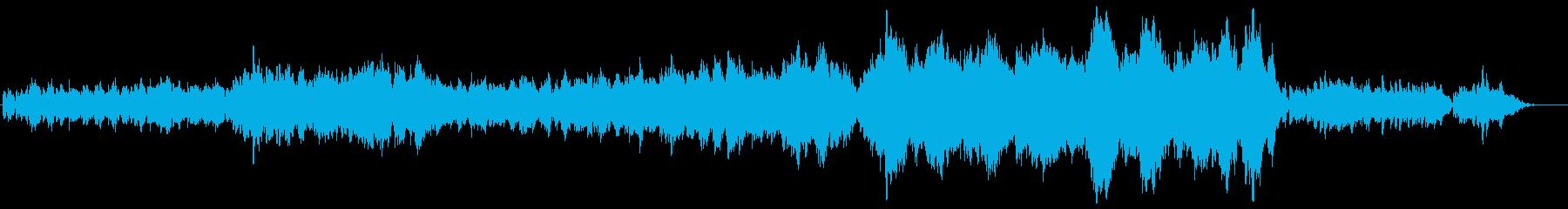 ほのぼのしたインスト曲の再生済みの波形