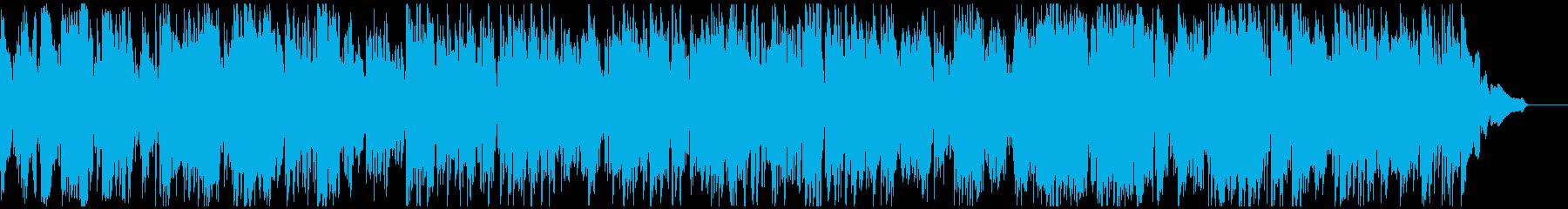 テンポ早め、ドキドキ、わくわくするジャズの再生済みの波形