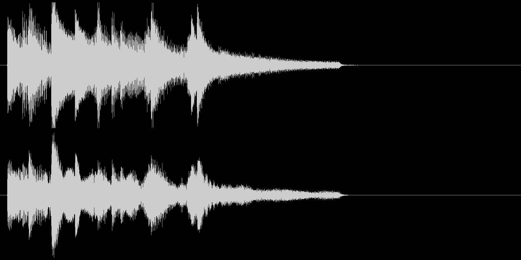 ゆったりとしたミディアム音楽の未再生の波形