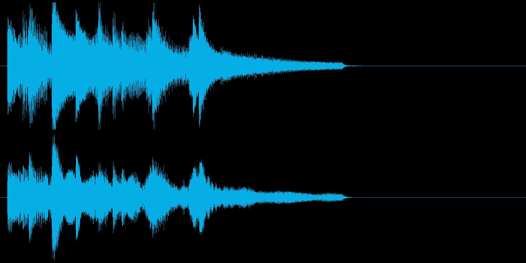 ゆったりとしたミディアム音楽の再生済みの波形