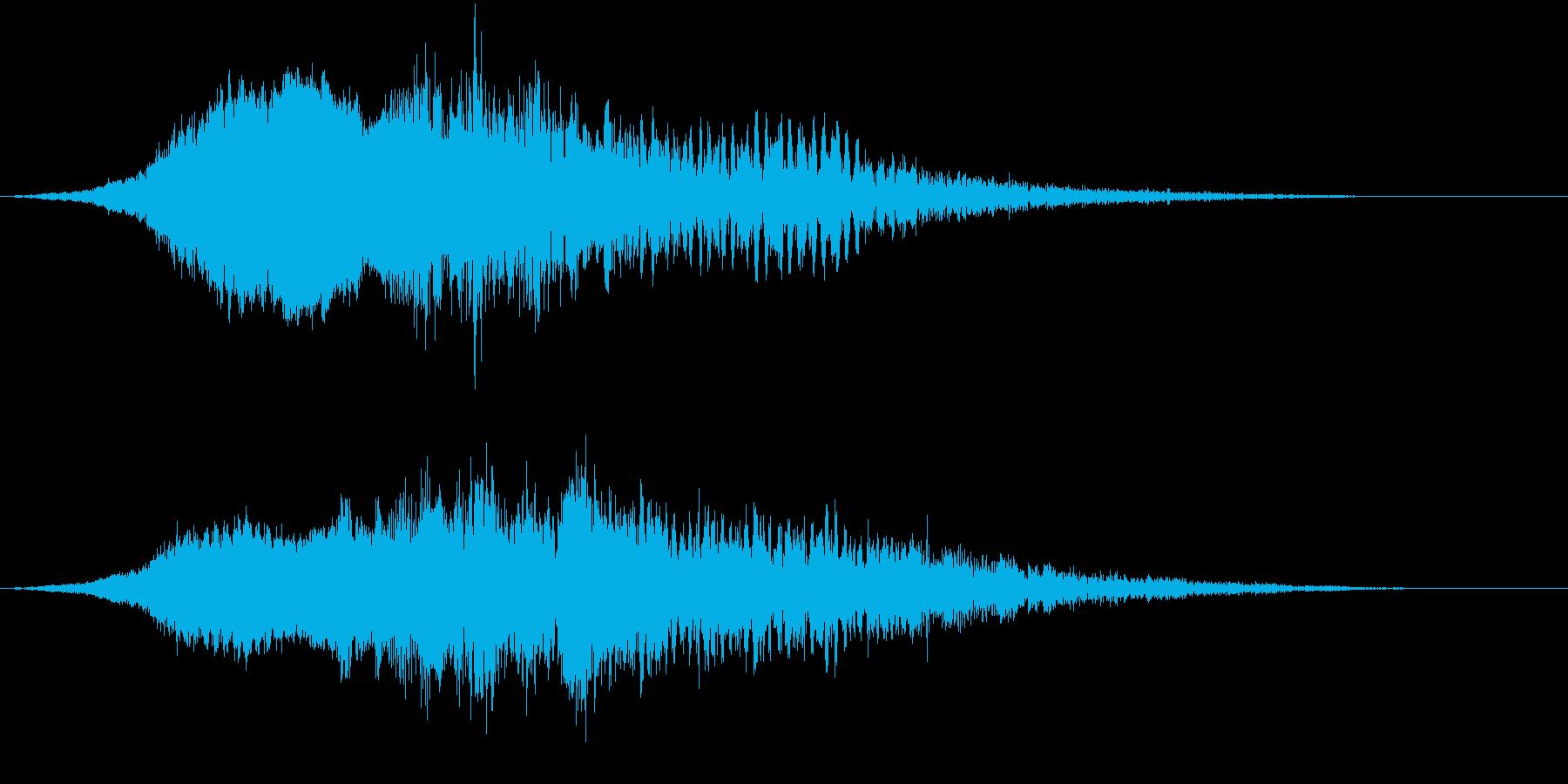 獣が叫ぶような音が緊張感を煽るの再生済みの波形