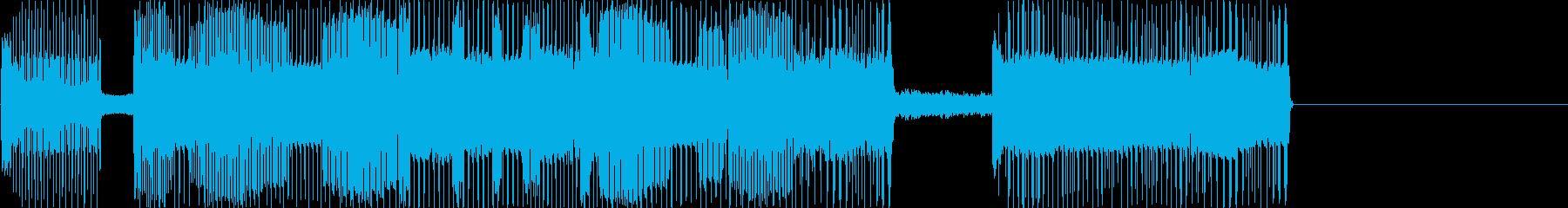 レトロゲームなチップチューンジングル1の再生済みの波形