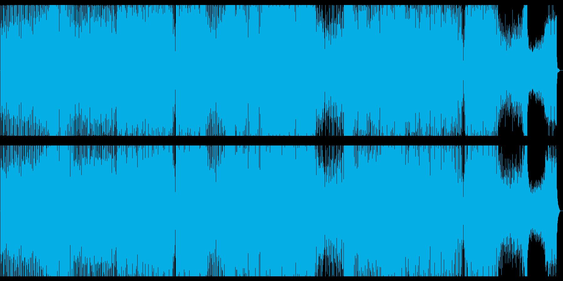 浮遊感のある幻想的なテクノの再生済みの波形