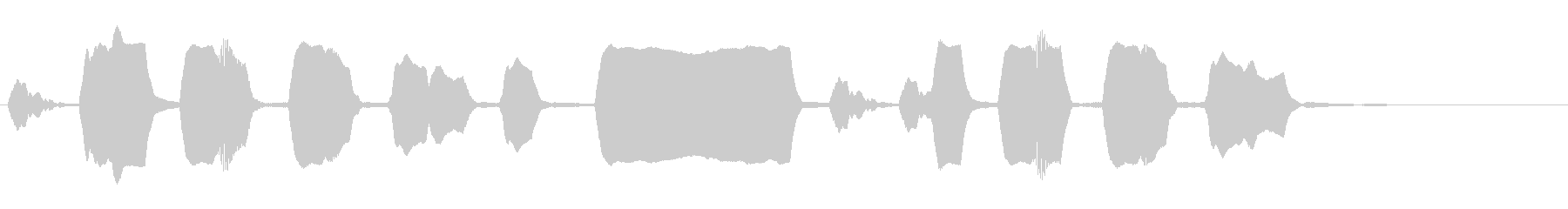 ジングル リコーダー 軽快 元気の未再生の波形