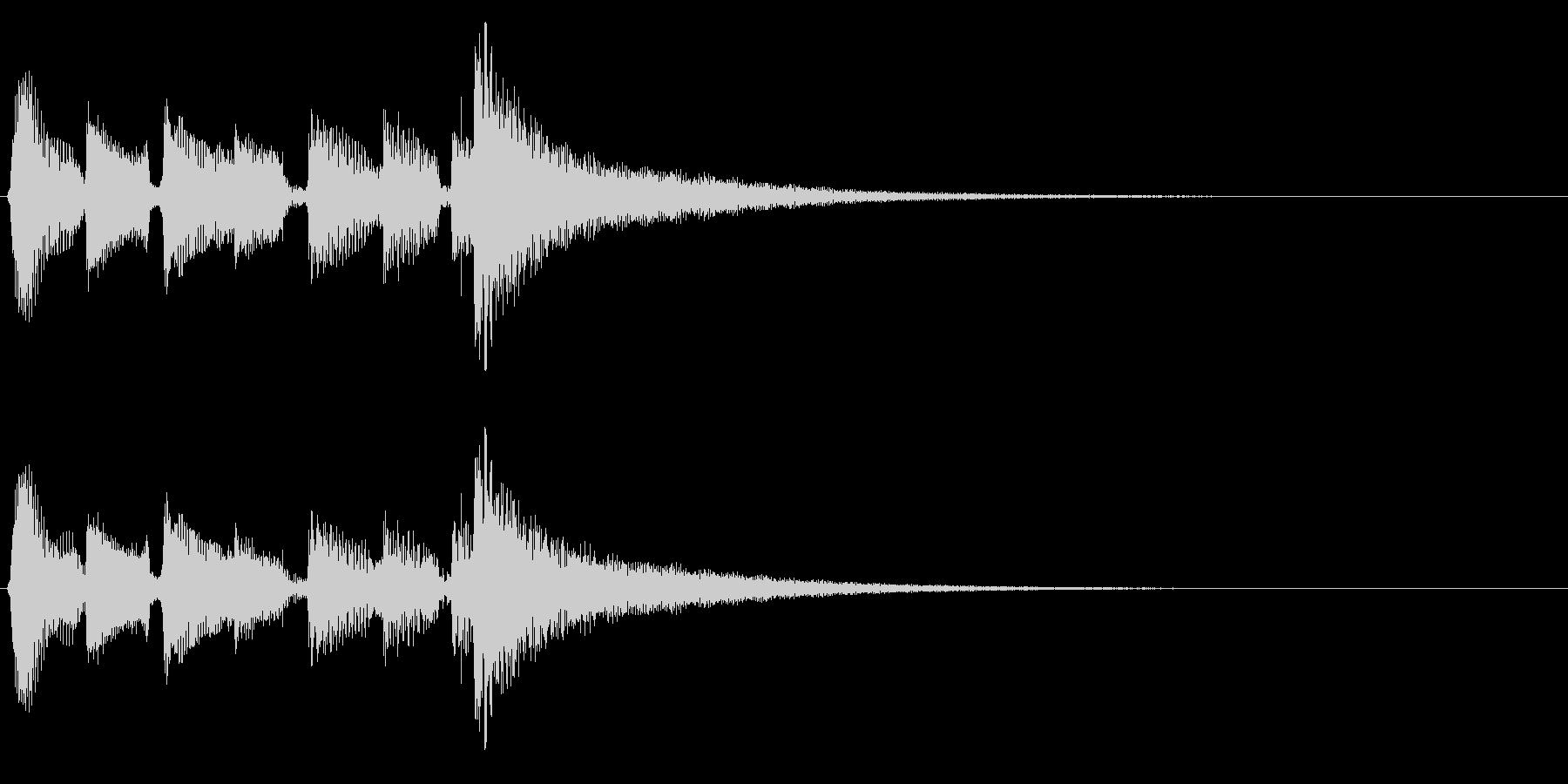 アコギ生音のジングル/おしゃれ6の未再生の波形