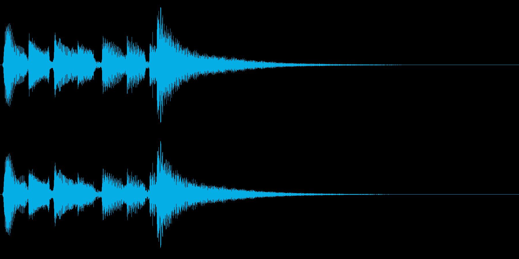アコギ生音のジングル/おしゃれ6の再生済みの波形