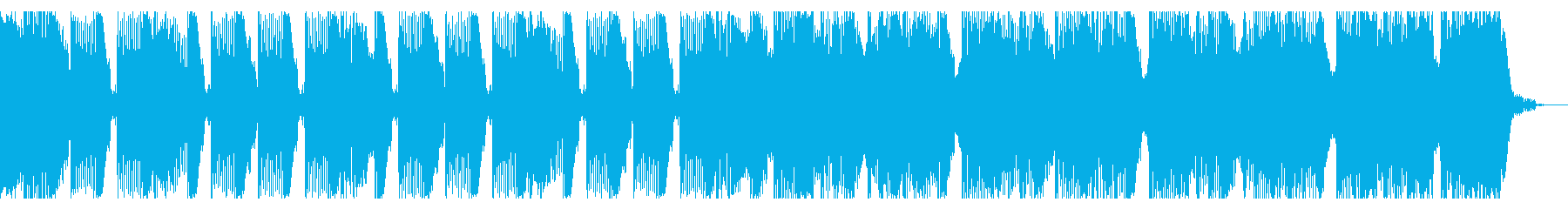 16秒 重厚感とキレのあるテクノの再生済みの波形