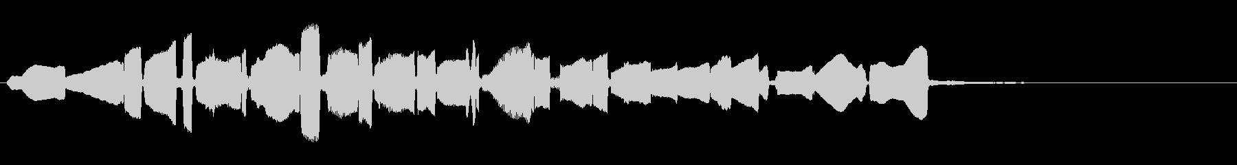 単音 リバースギターの未再生の波形