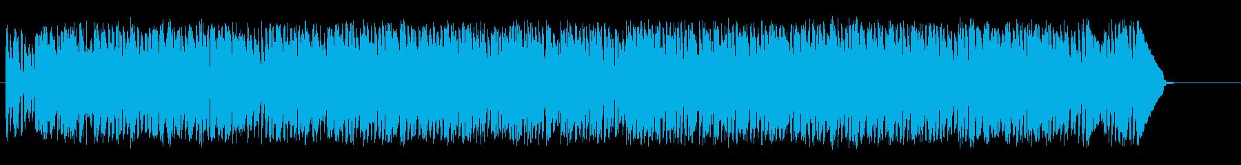 バンジョーが陽気なウェスタン調の再生済みの波形