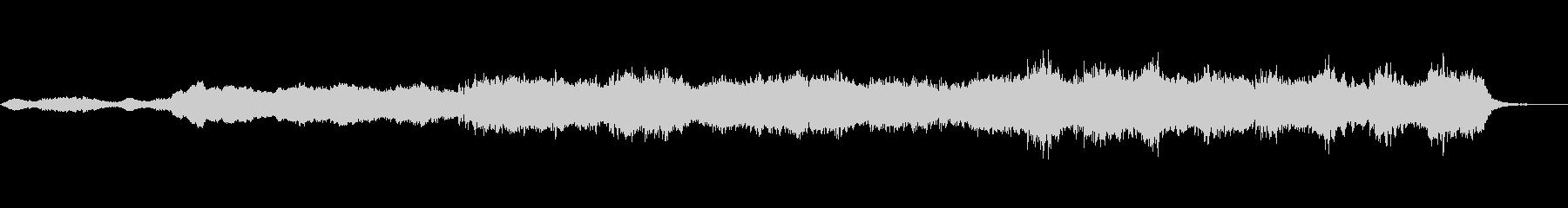 静かで恐怖感や不安のあるBGMの曲の未再生の波形