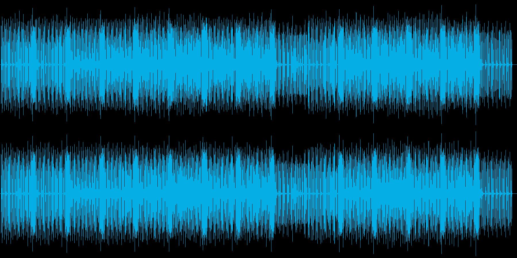 かわいくコミカルなチップチューンの再生済みの波形
