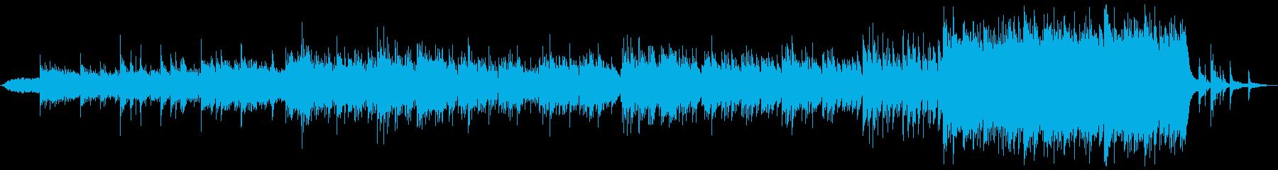前半メランコリンクなピアノ+後半オケの再生済みの波形