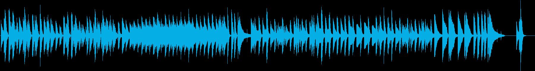 ゆったり、かわいい日常系BGMの再生済みの波形