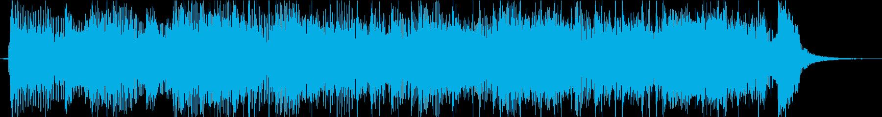 明るくコミカルなジングルの再生済みの波形