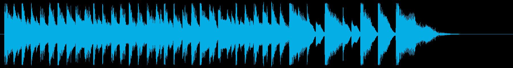 可愛いジングル、覚えやすいテーマの曲の再生済みの波形