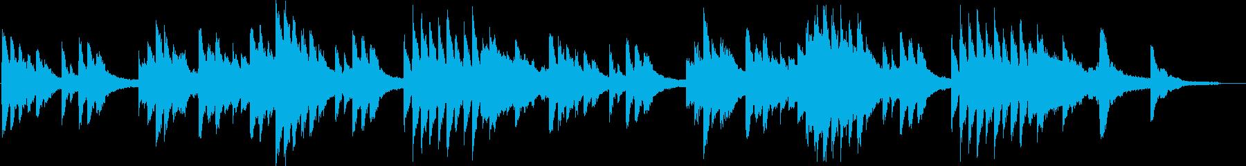 耽美でノスタルジックなピアノ・ソロの再生済みの波形