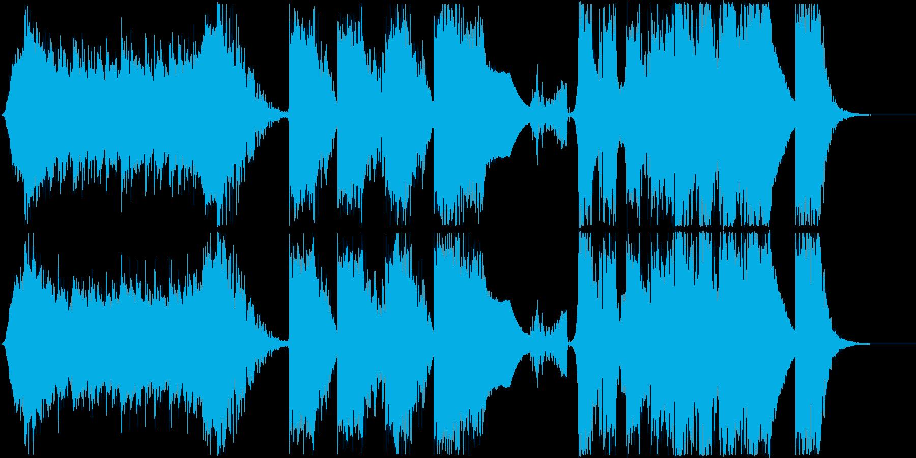 インパクトあるワークアウト風のエピック曲の再生済みの波形