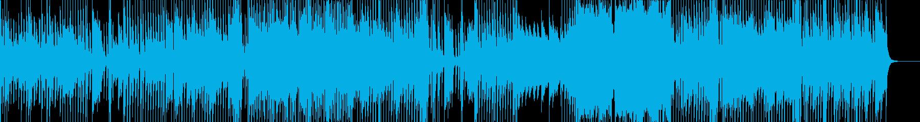 シンセと印象的なエレキギターの再生済みの波形