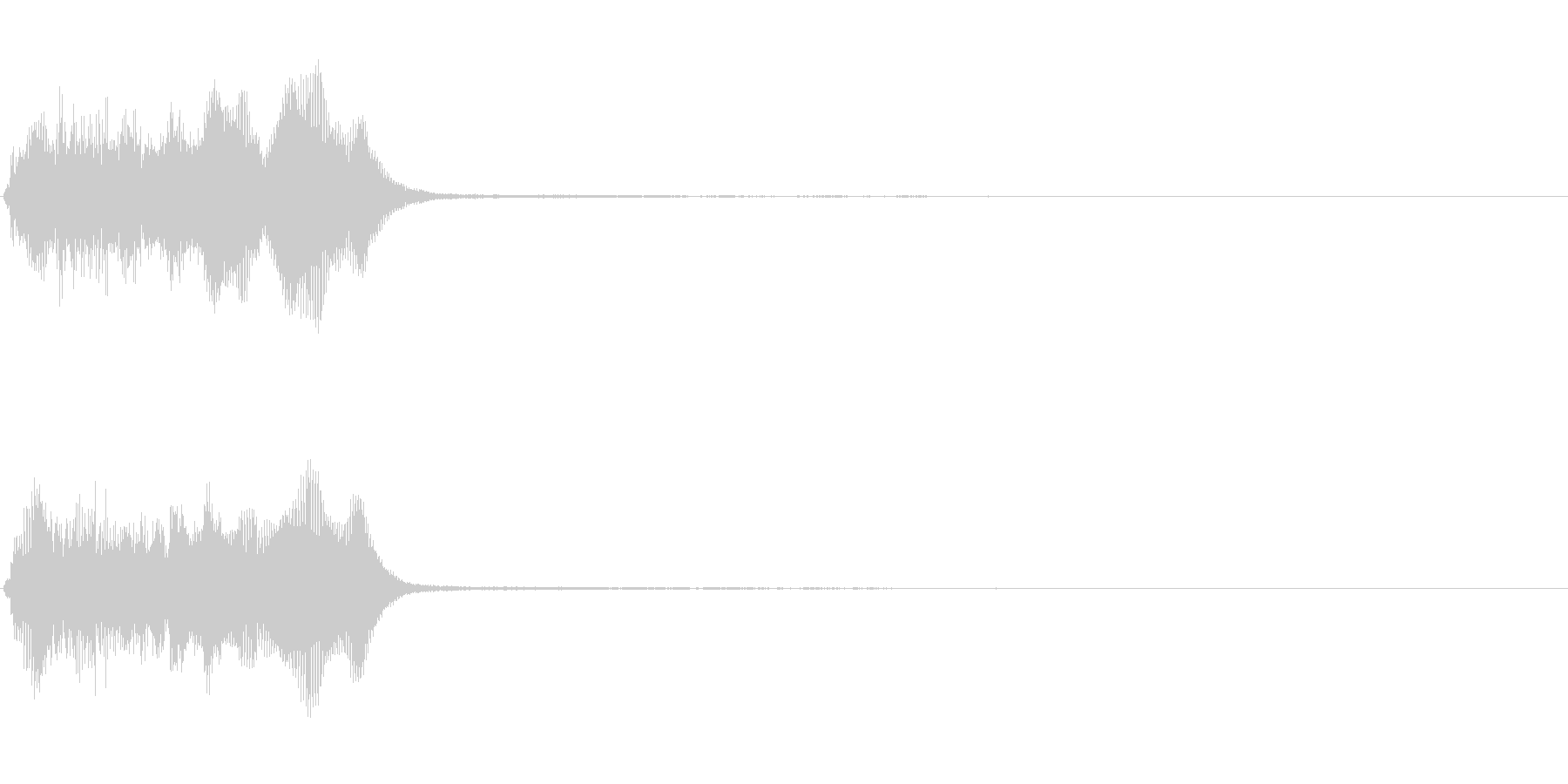 トランペット ファンファーレ 定番 1の未再生の波形