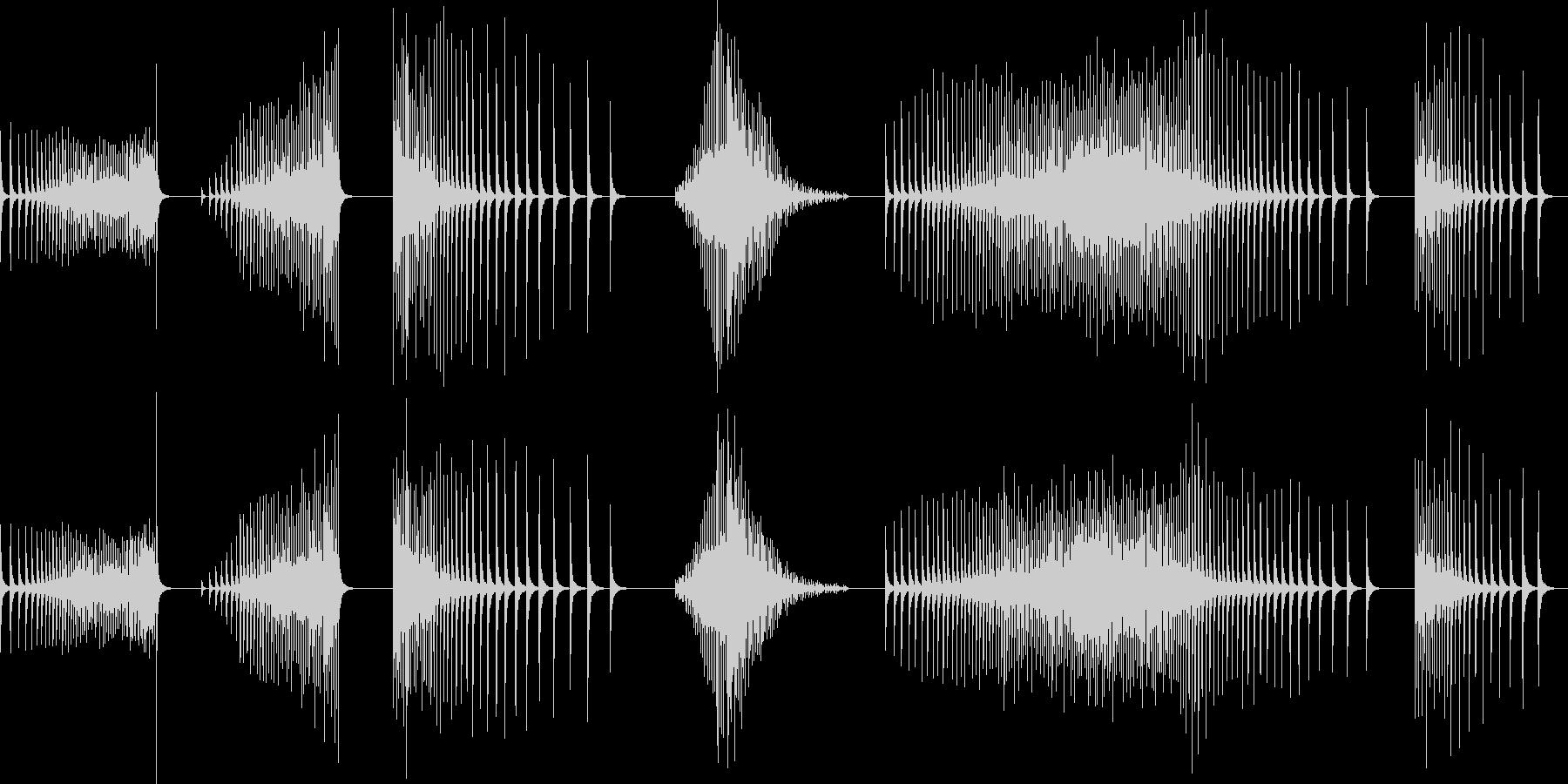 ドラム、スネア、ロール、ブザーなし...の未再生の波形